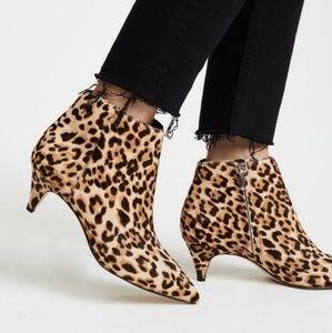 Sam Edelman Leopard Print Leather Kinzey Booties